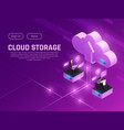 cloud drive landing page vector image vector image