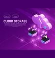 cloud drive landing page vector image