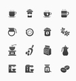 Coffee symbol icons vector image vector image