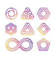 colorful impossible shape vector image