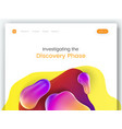 colorful landing page template with a modern vector image