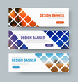 Design of white web banners with rhombuses for