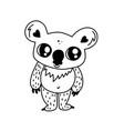 doodle koala character vector image vector image