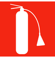 Fire extinguisher isolated on red background icon vector image