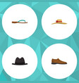 flat icon dress set of elegant headgear male vector image vector image