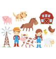 flat of various domestic vector image vector image