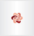 floral logo icon red abstract business symbol vector image vector image