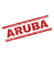 grunge textured aruba stamp seal vector image