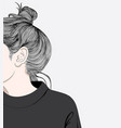 hairstyles for women in modern style vector image vector image