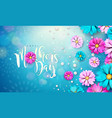 happy mothers day greeting card design with flower vector image vector image