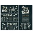 horizontal poster for dia de los muertos day of vector image