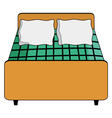 hotel bed vector image vector image