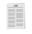 job newspaper icon flat design isolated white vector image