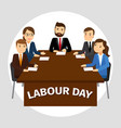 labour day poster vector image