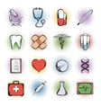 Medical comics icons vector image vector image