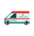 medical emergency car icon - side view of vector image