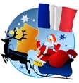 Merry Christmas France vector image vector image