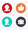 modern social network colorful icons set vector image vector image