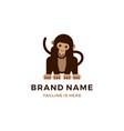 monkey chimp chimpanzee logo cartoon icon flat vector image