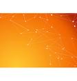 Orange molecule connection atom business vector image vector image