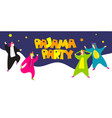 pajama party happy friends in pajamas costume vector image vector image