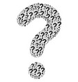 question icon collage vector image