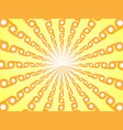 rays of orange yellow abstract sun burst vector image