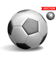 realistic isolated football soccer ball vector image
