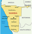 Republic of Namibia - map vector image vector image