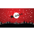 Santa flying silhouette vector image vector image
