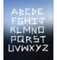 Scratched glass hand written alphabet vector image vector image