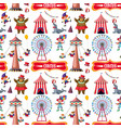 seamless background design with circus theme vector image vector image