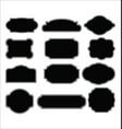 set blank retro vintage labels vector image