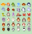set of animals sticker vector image