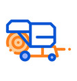 shaking harvester vehicle thin line icon vector image vector image