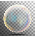 soap bubble transparent realistic bubble with vector image vector image