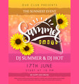 summer party poster with vector image