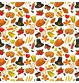 thanksgivin day seamless backgroundsymbols vector image