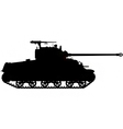 world war two tank silhouette vector image vector image