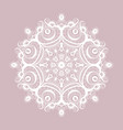 lace round paper doily christmas snowflake vector image