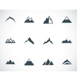 black mountains icons set