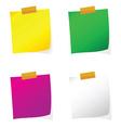 reminder set color on white vector image