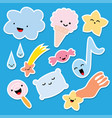 set of stickers comic style vector image