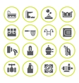 Set round icons of pool vector image