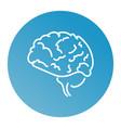 web line icon human brain vector image