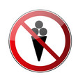 no ice cream sign vector image