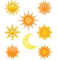 Suns collection vector image