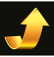 Gold arrow vector image