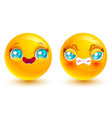 set two smiles vector image