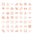 49 connect icons vector image vector image